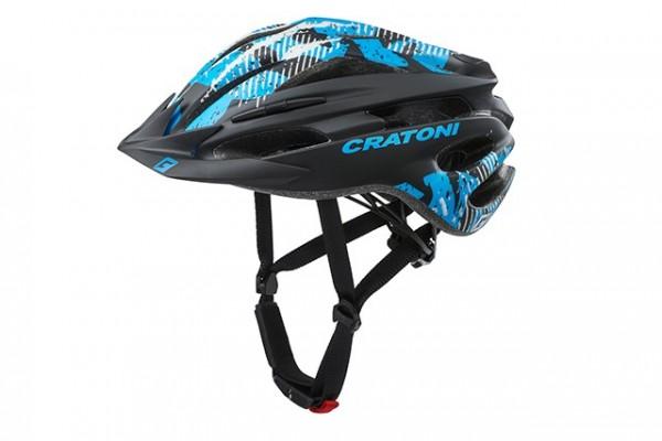 Cratoni Fahrradhelm Pacer Jr black-blue matt