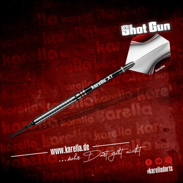 Karella Softdart Shotgun, silver, 80% Tungsten
