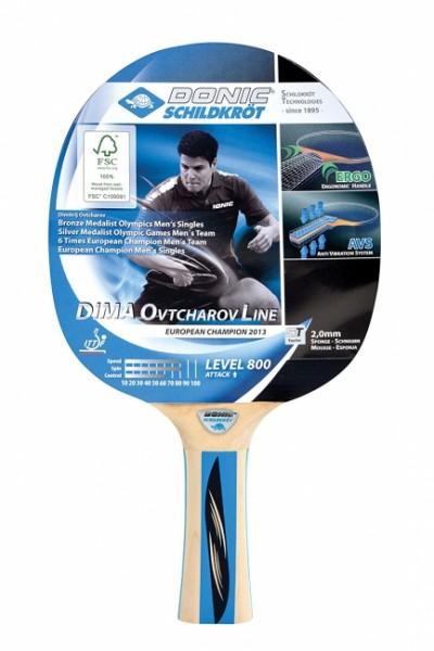 Schildkröt Tischtennisschläger Ovtcharov 800 FSC 754414