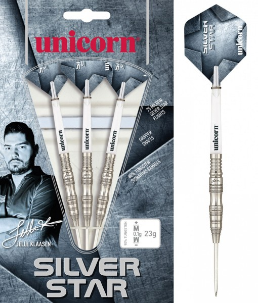 Unicorn World Champion Jelle Klaasen Silver Star Steel Darts