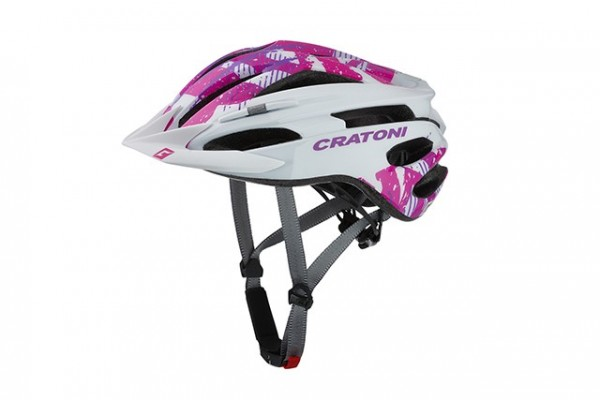 Cratoni Fahrradhelm Pacer Jr white-pink glossy