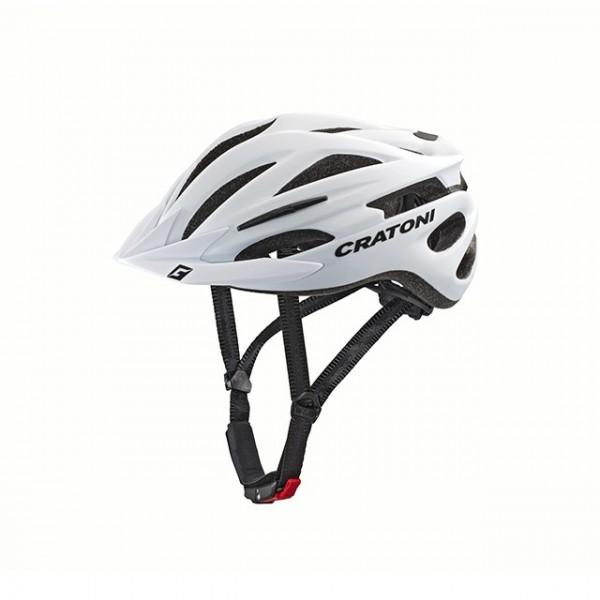 Cratoni Fahrradhelm Pacer white matt