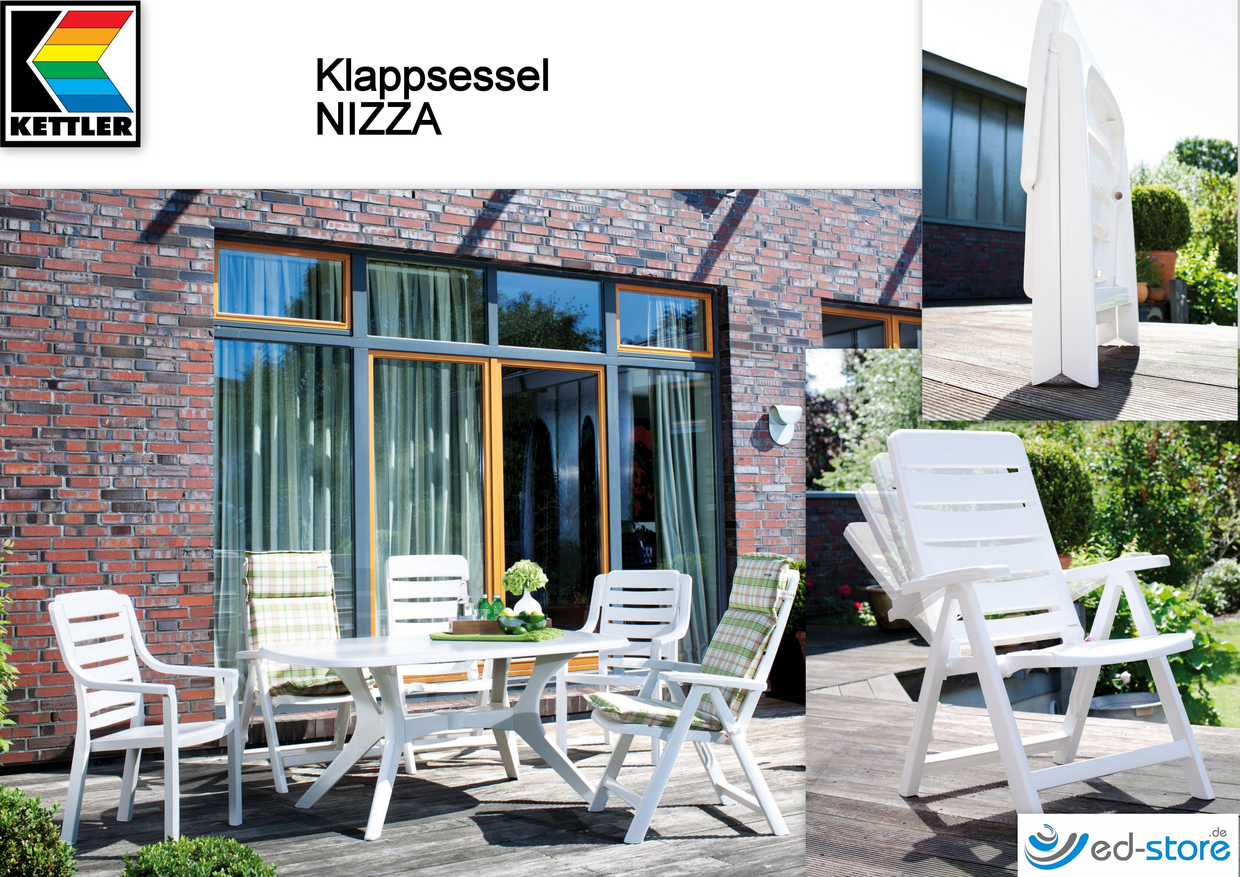 kettler klappsessel nizza kunststoff gartenst hle gartenm bel freizeit wellness ed. Black Bedroom Furniture Sets. Home Design Ideas