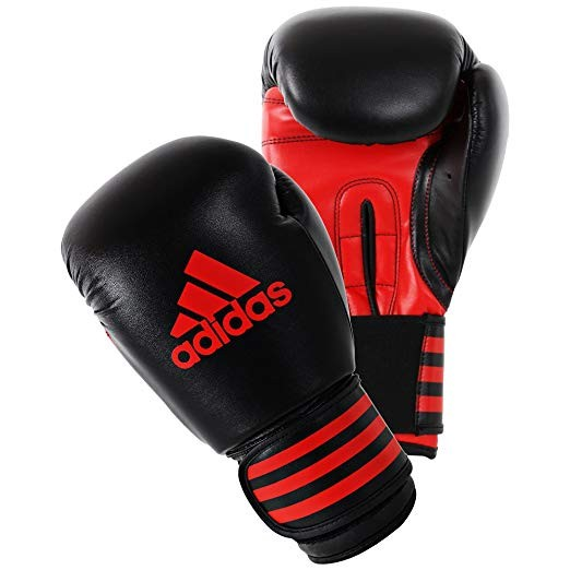 Adidas Power 100 Boxhandschuhe schwarz/rot 6oz