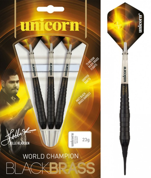 Unicorn Black Brass Jelle Klaasen Soft Darts