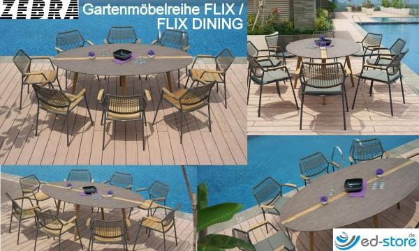 ZEBRA Gartenmöbelreihe FLIX/FLIX DINING