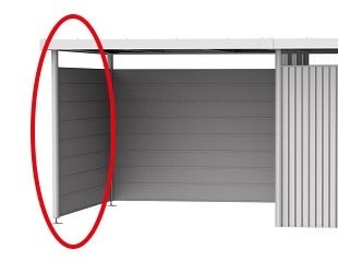 BIOHORT Seitenwand für Seitendach für Gartenhaus HighLine