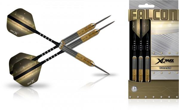 XQ MAX Falcon Brass Dartset Steeltip