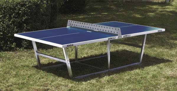 Joola City Outdoor Tischtennisplatte aus Polymerbeton blau
