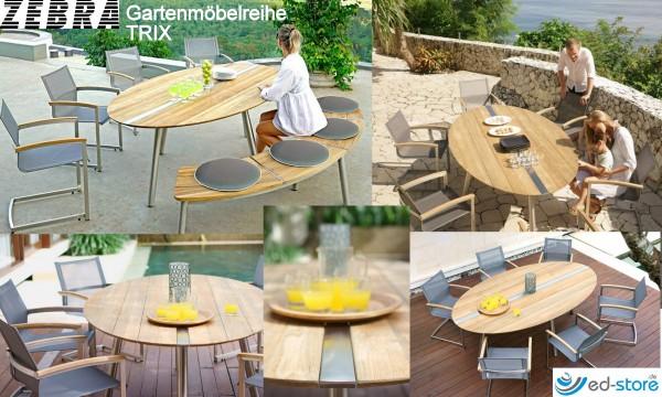 ZEBRA Gartenmöbelreihe TRIX