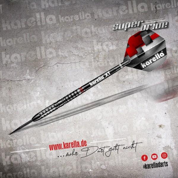 Karella Steeldart SUPERDRIVE, schwarz, 90% Tungsten