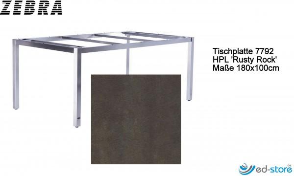 ZEBRA Tischplatte für Gestell eckig