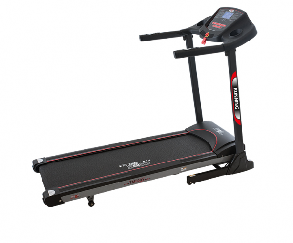 Christopeit Laufband TM 500S schwarz/silber/ rot, 18 km/h, manual incline