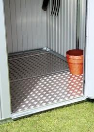 BIOHORT Alu-Bodenplatte für Gartenhaus HighLine