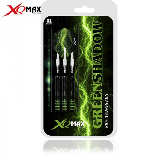 XQ MAX Green shadow 80% Tungsten Dartset Steeltip
