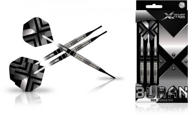 XQ MAX Buran 90% Tungsten Dartset Softtip