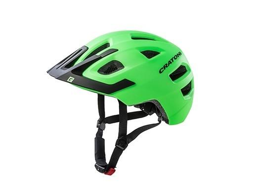 Cratoni Fahrradhelm Maxster Pro lime-black matt