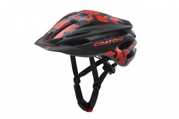 Cratoni Fahrradhelm Pacer Jr black-red matt