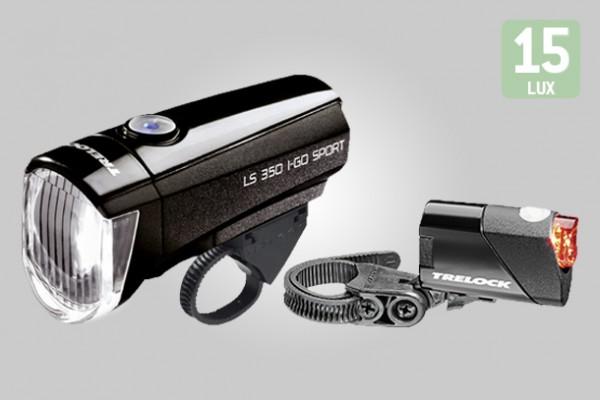 Trelock Licht-Set LS 350 I-GO Sport + LS 710 Reego