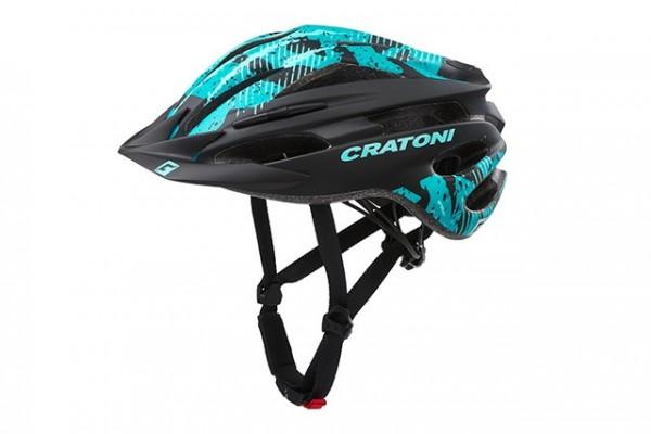 Cratoni Fahrradhelm Pacer Jr black-turquoise