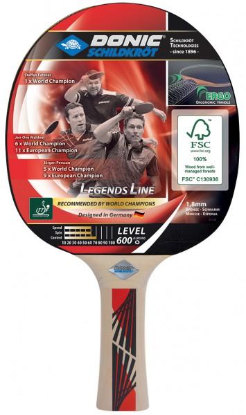 Donic-Schildkröt Donic Tischtennisschläger Legends 600 FSC