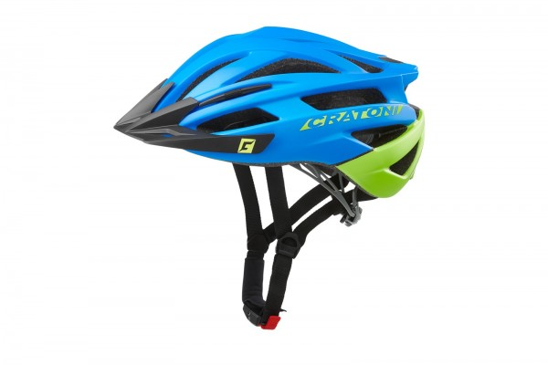 Cratoni Fahrradhelm Agravic blue-lime matt