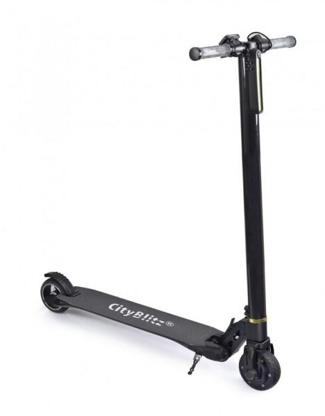 CityBlitz Elektro-Roller CB010 carbon schwarz