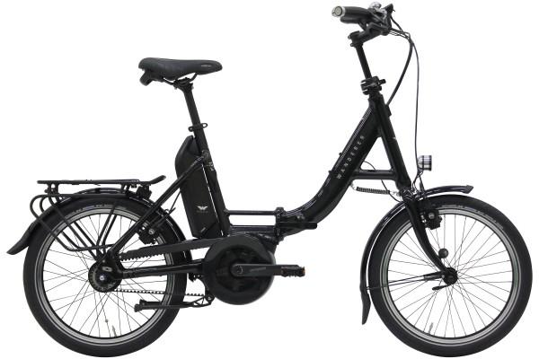 Wanderer Faltrad E300 schwarz-glänzend Bosch Performance Line 250 Watt / 500 Wh Freilauf