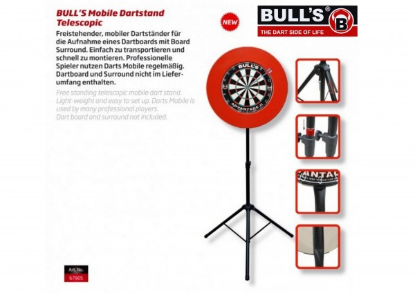 BULL'S Mobile Dartstand 67905
