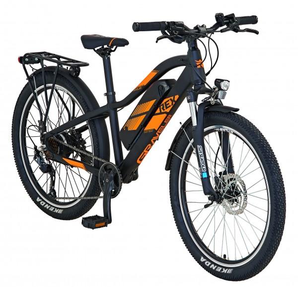 REX E-Bike Alu-ATB 24 Zoll GRAVELER Kids Blaupunkt RH34cm