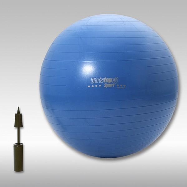 Christopeit Gymnastikball blau 75 cm inkl. Pumpe- Retourenschnäppchen