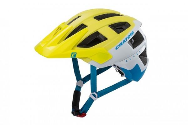 Cratoni Fahrradhelm Allset blue-lime-orange matt
