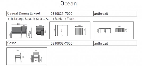 Kettler Casual Dining Eckset inkl. Kissen OCEAN