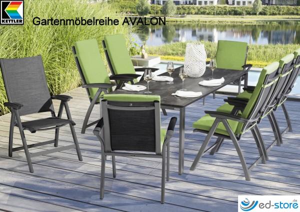 Kettler Gartenmöbelreihe AVALON | Alu/Outdoorgewebe | Gartenstühle |  Gartenmöbel | Freizeit U0026 Wellness | Ed Sports.de