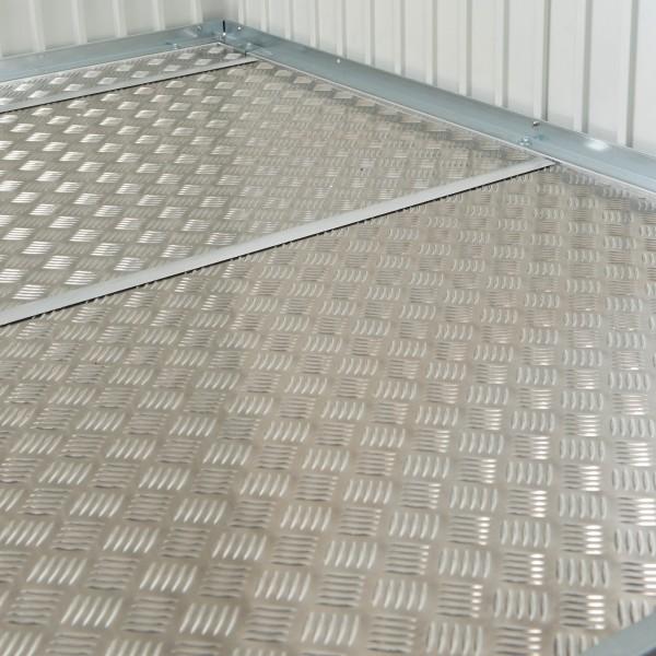 BIOHORT Alu-Bodenplatte für Gerätehaus Neo