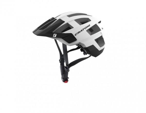 Cratoni Fahrradhelm Allset white-black matt