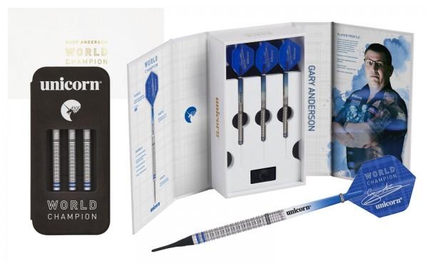 Unicorn Phase 3 World Champion Gary Anderson Soft Darts Presentation Box