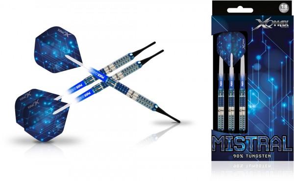 XQ MAX Mistral 90% Tungsten Dartset Softtip