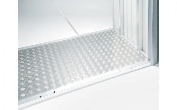BIOHORT Alu-Bodenplatte für Brennholzlager/Gerätehaus WoodStock
