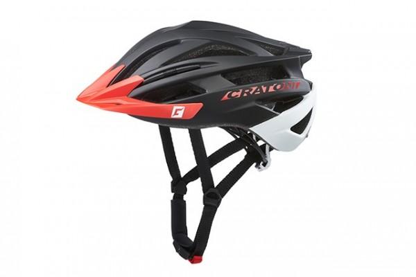Cratoni Fahrradhelm Agravic black-red matt