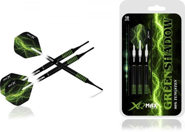XQ MAX Green Shadow 80% Tungsten Dartset Softtip