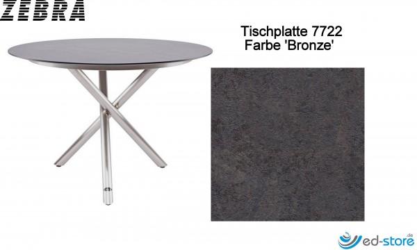 ZEBRA Tischplatte für Gestell rund Ø110