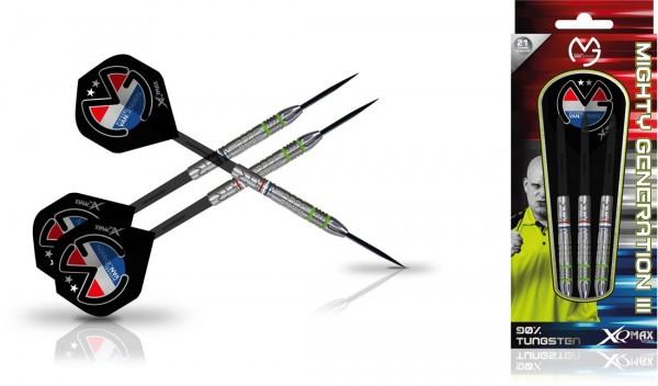 """XQMAX Michael van Gerwen """"Mighty Generation III"""" 90% Steel Darts"""