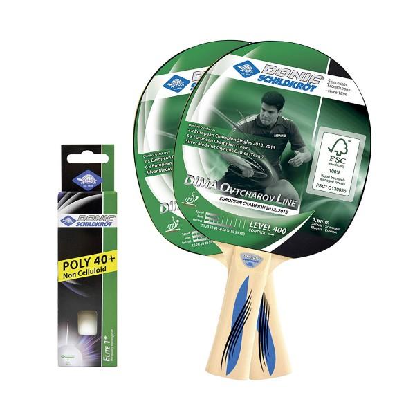 Schildkröt Tischtennisschläger Set 2-Player Ovtcharov 400 FSC 788469