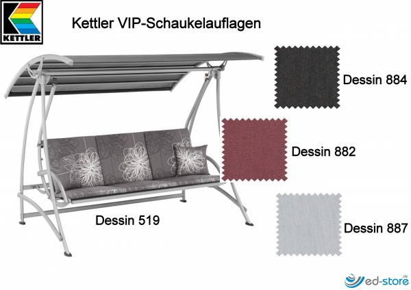 kettler schaukelauflage f r vip hollywoodschaukel polsterauflagen zubeh r gartenm bel. Black Bedroom Furniture Sets. Home Design Ideas
