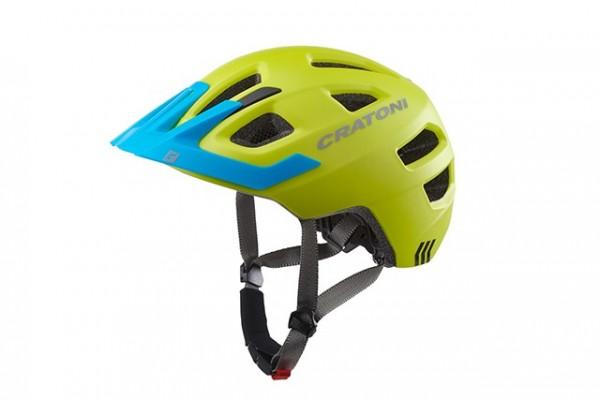 Cratoni Fahrradhelm Maxster Pro lime-blue matt