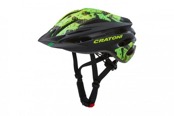 Cratoni Fahrradhelm Pacer Jr black-lime