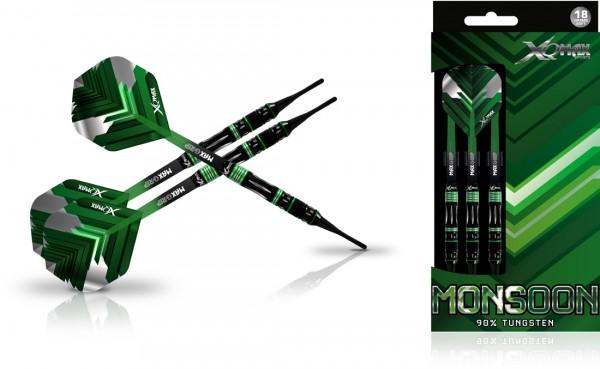 XQ MAX Monsoon 90% Tungsten Dartset Softtip