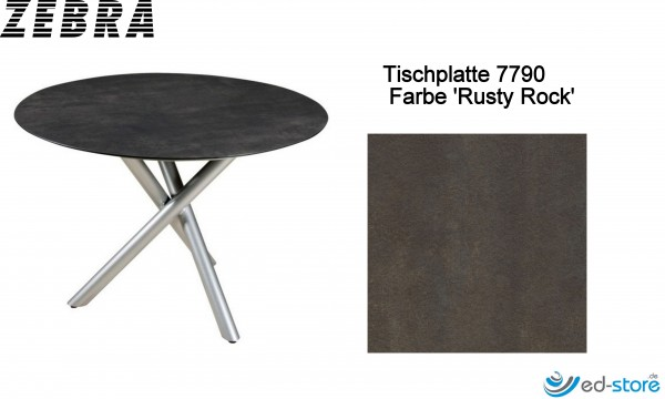 ZEBRA SELA/TEAK Tischplatte für Gestell rund Ø110