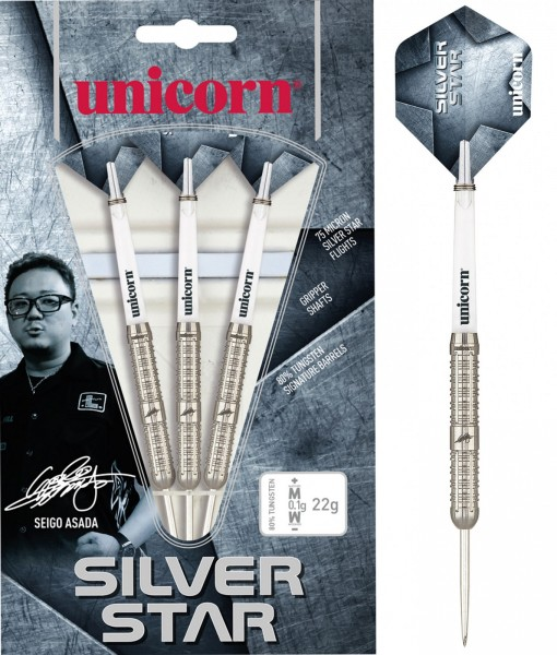 Unicorn Seigo Asada Silver Star Steel Darts